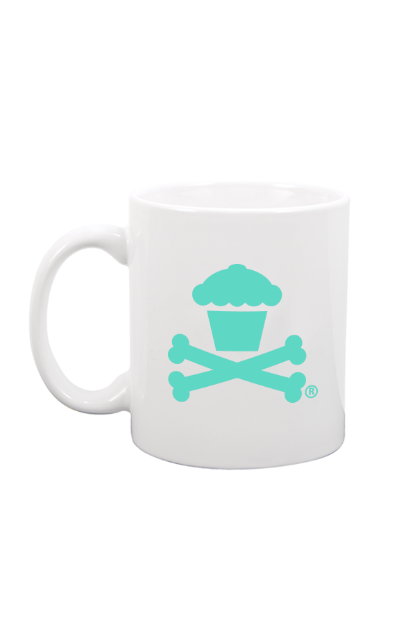 Cake Dealer Mug - White / Mint