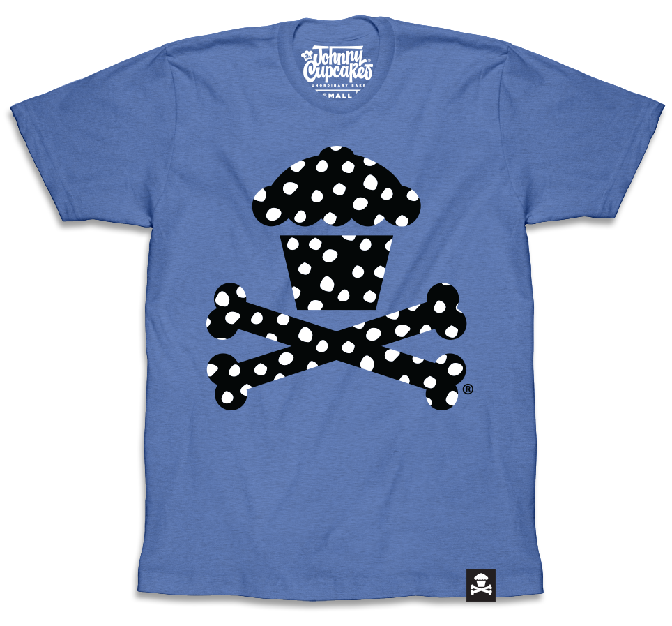 Polka Dot Crossbones (Blue)