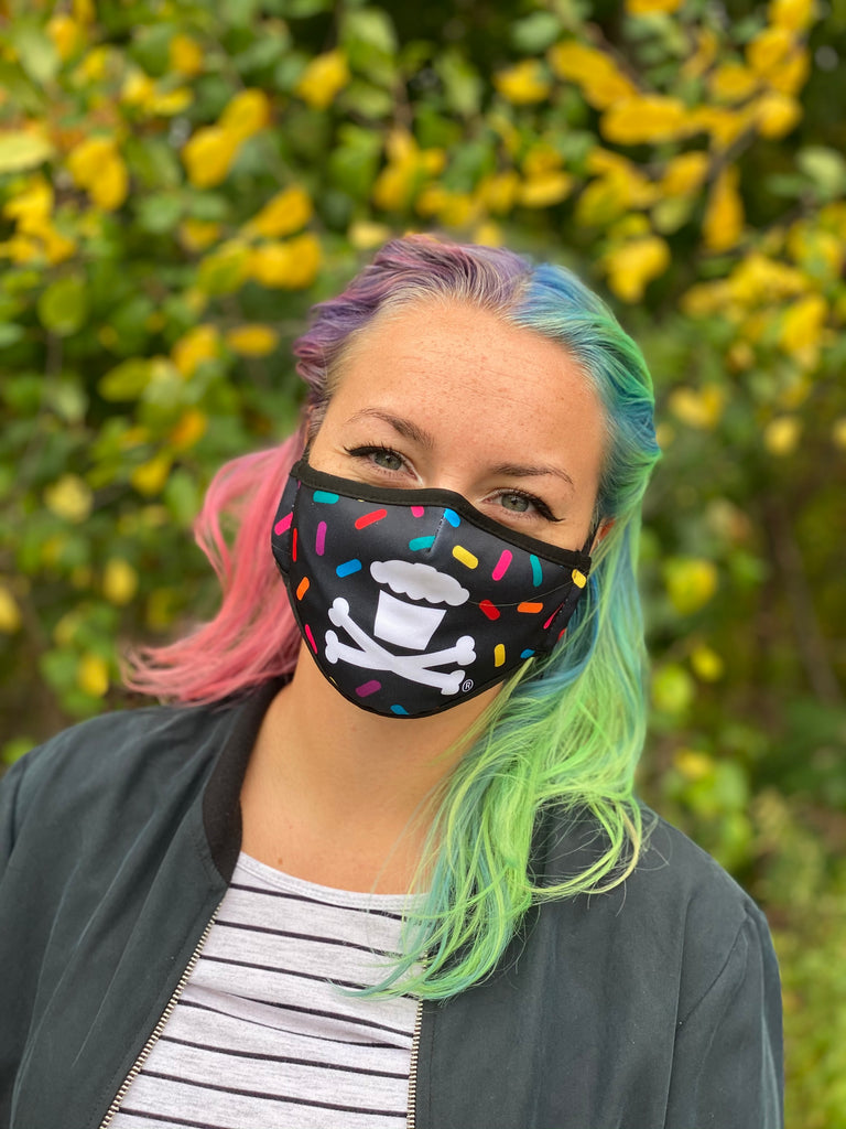 Sprinkles Pattern Face Mask W/ Adjustable Ear Strap