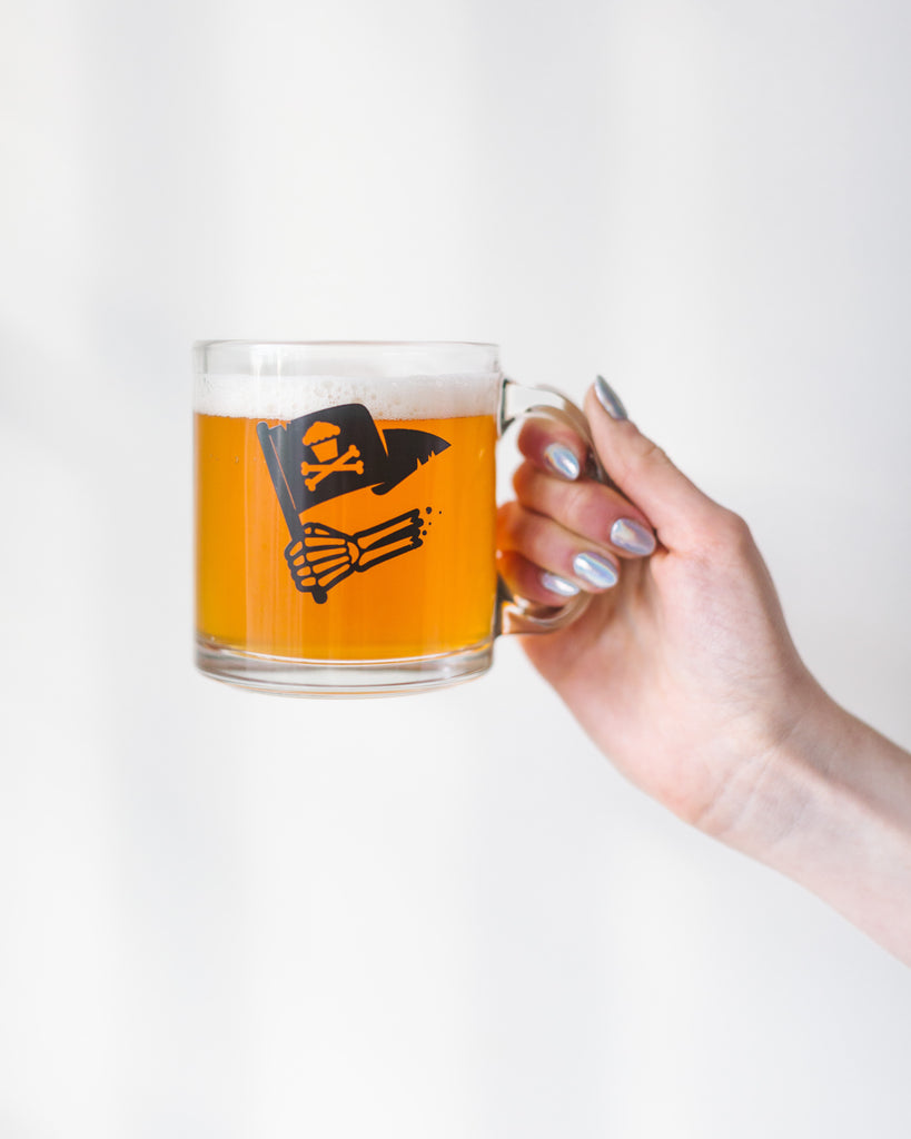 Flag Hand Glass Mug