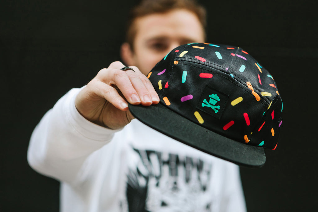 Rainbow Sprinkles 5 Panel (Black)