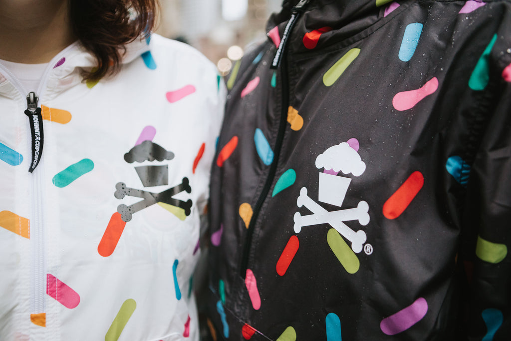 Rainbow Sprinkles Windbreaker Jacket (White)