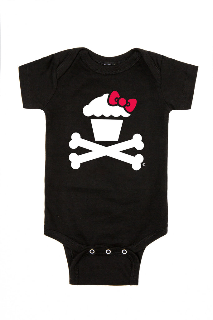 Hello Kitty Bow Crossbones Onesie