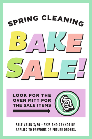 Spring Cleaning Bake Sale
