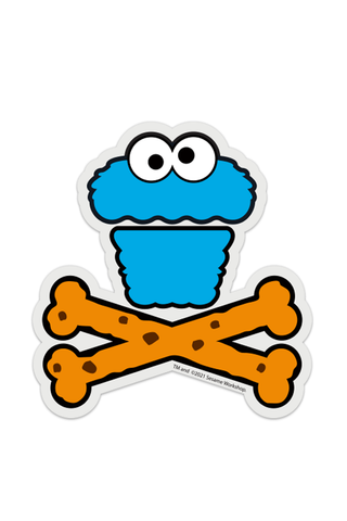 Cookie Monster Crossbones STICKER