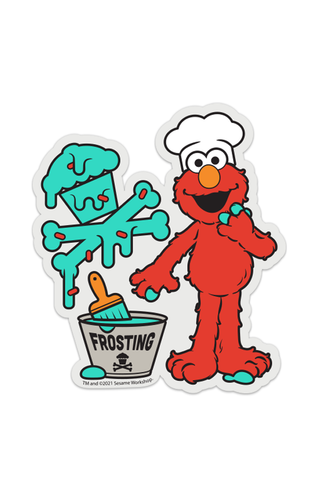 Elmo Loves His Frosting STICKER
