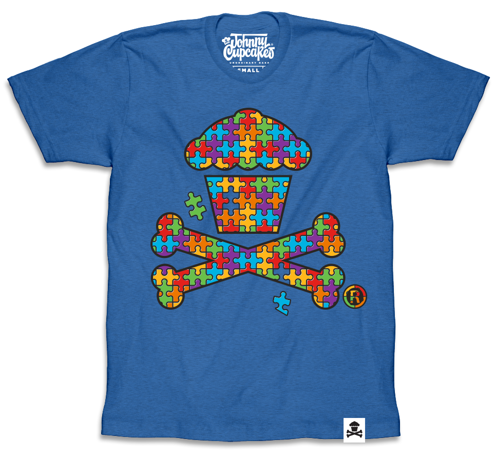 Autism Awareness Crossbones