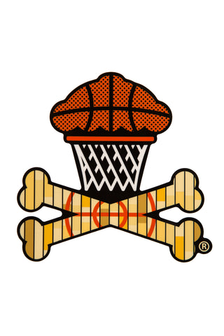 Basketball Crossbones Sticker