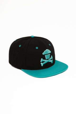 Crossbones Snapback (black/mint)