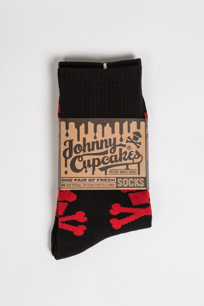 Crossbones Socks (Black/Red)