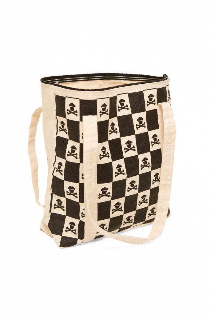 Checkered Logo Tote Bag