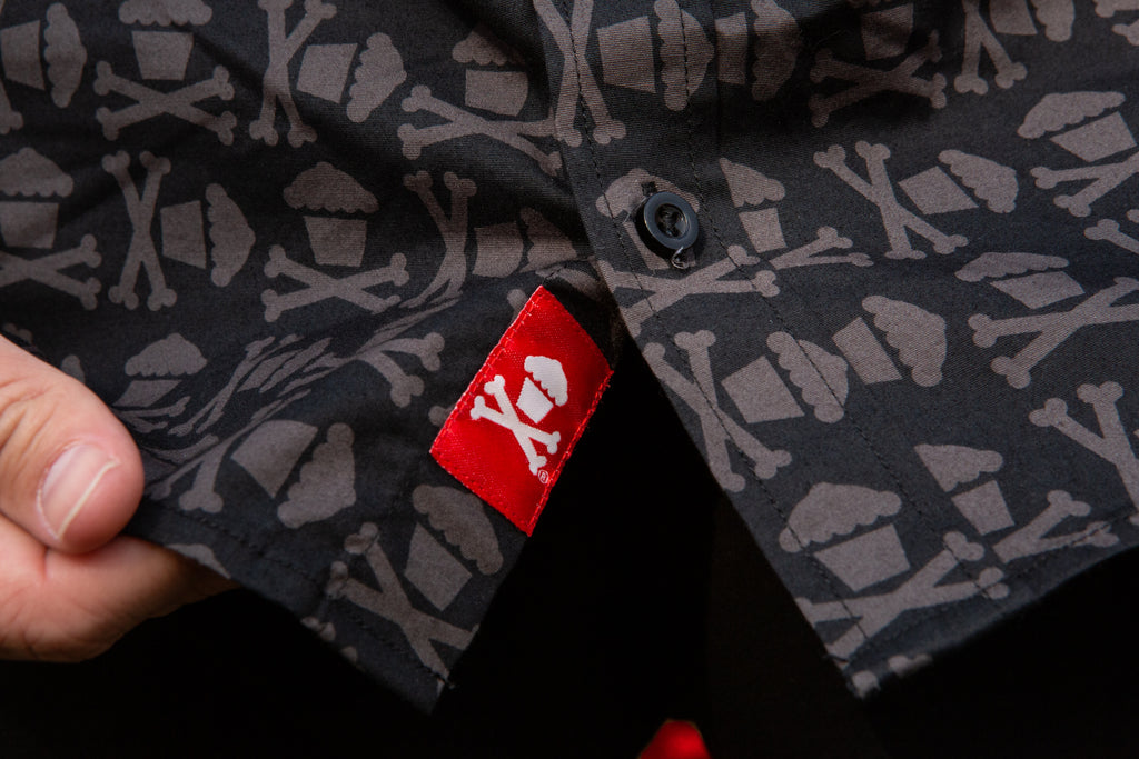 Crossbones Button Up