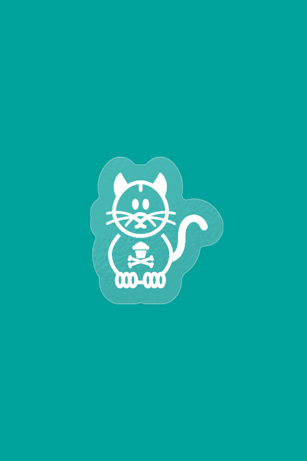Clear Sticker - Cat