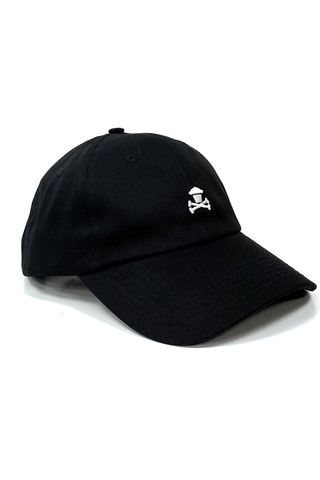 Mini Crossbones Dad Hat - Black