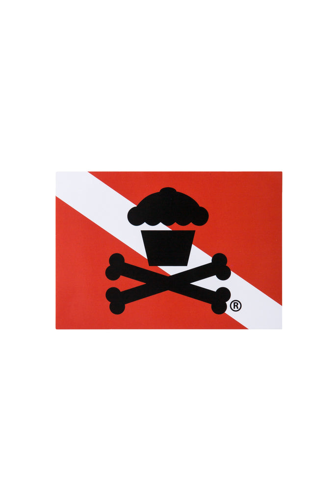 Diver Crossbones Sticker