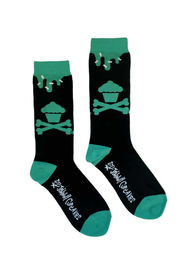 Black / Green Frosting Drip Socks