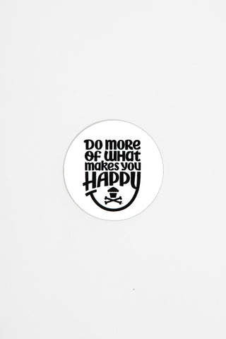 Mini Happiness Round Sticker (white)