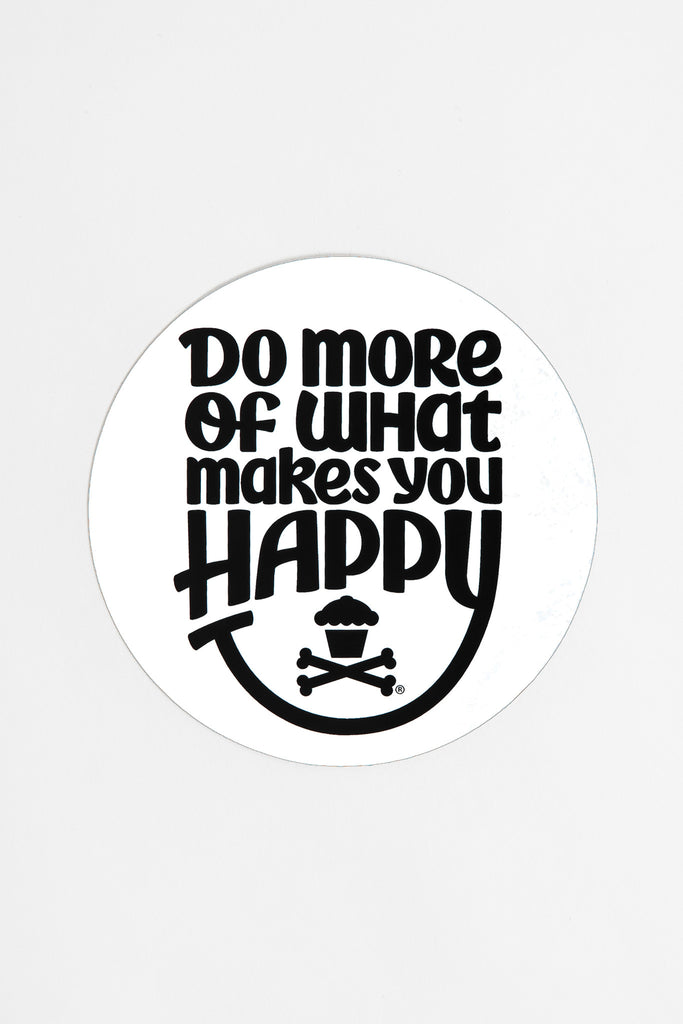 Happiness Round Sticker (white)