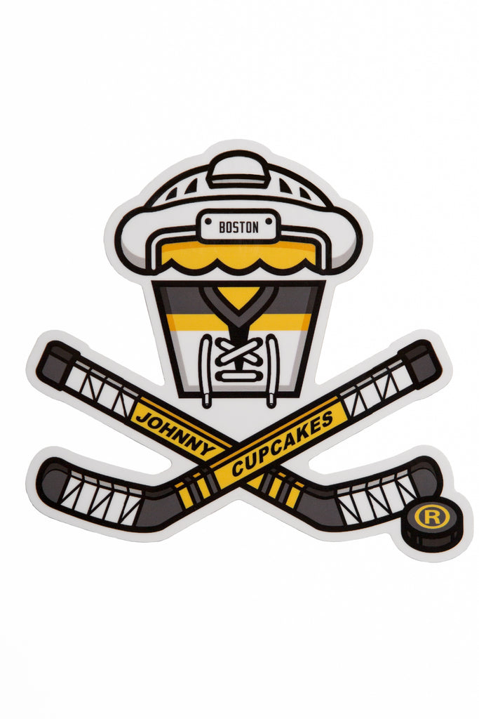 Hockey Crossbones Sticker