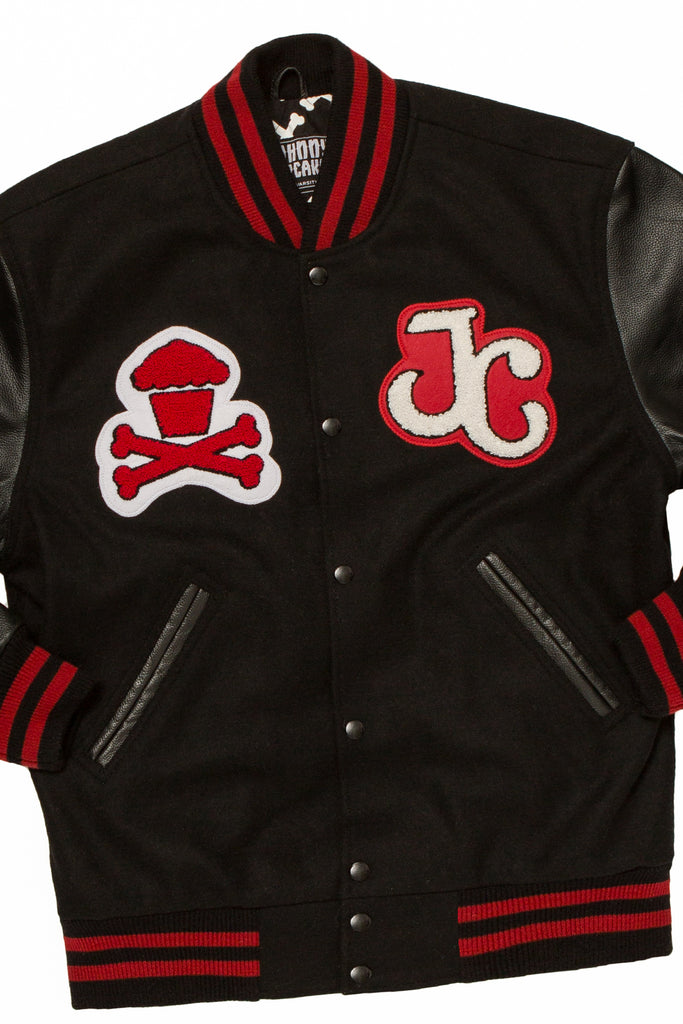 JC Varsity Jacket (Black/Red)