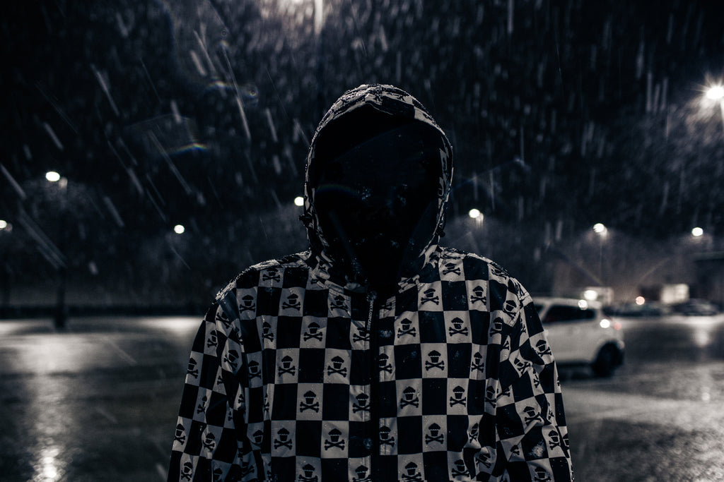 Checkered Crossbones Windbreaker Jacket