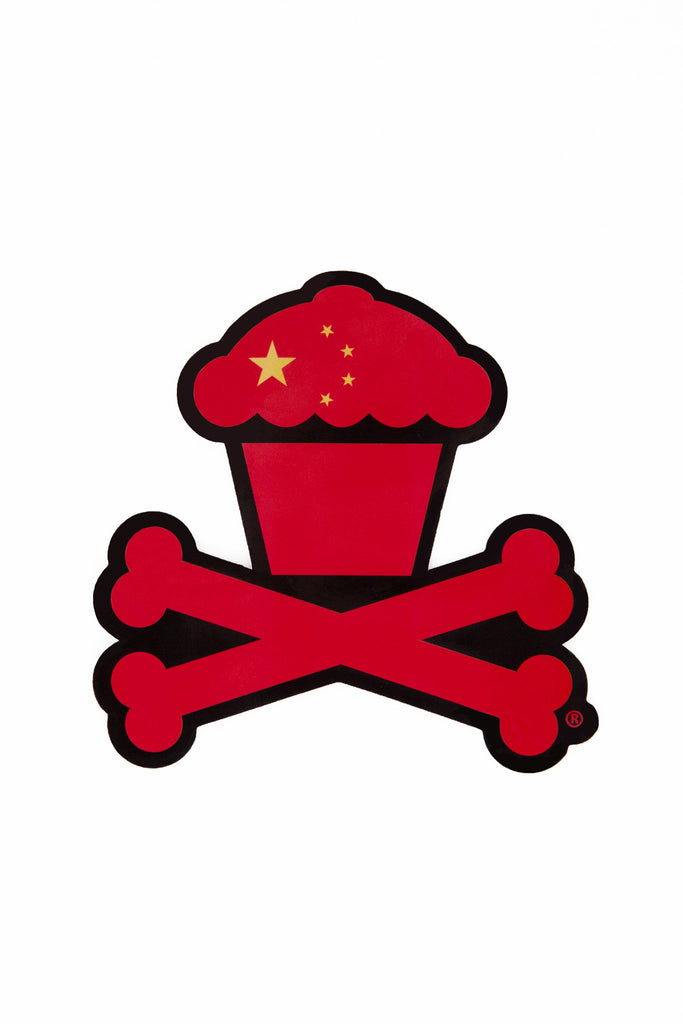 China Crossbones Sticker