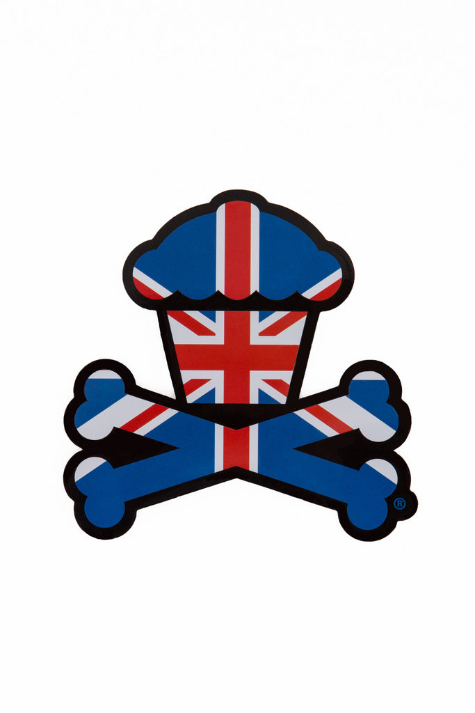 UK Crossbones Sticker