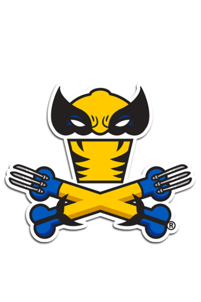 Claws Crossbones Sticker