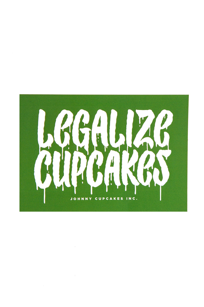 Legalize Cupcakes Sticker