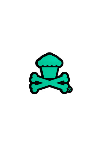 Mini Crossbones Sticker (Black/Mint)
