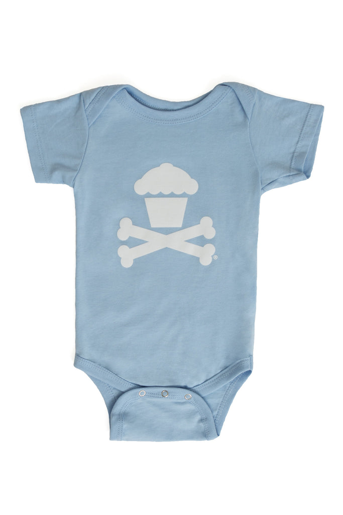 Blue Crossbones Onesie