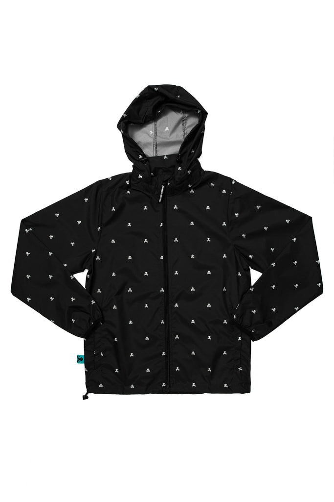 Mini Crossbones Pattern Windbreaker Jacket