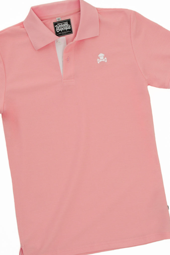 Crossbones Polo (Pink)