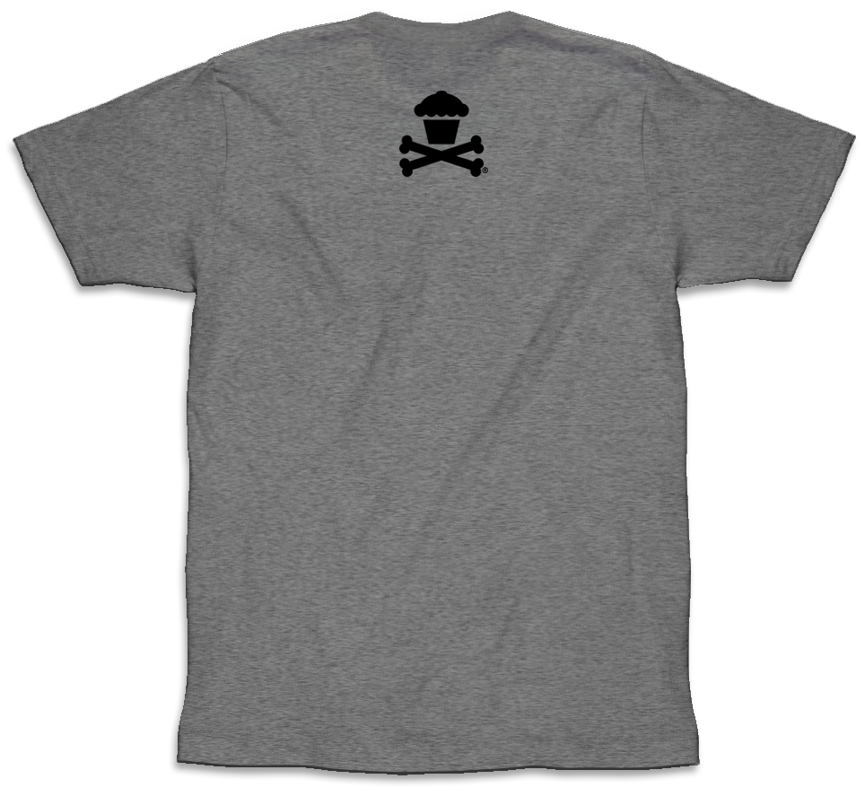 Basic Crossbones (Tri-blend Heather Grey)