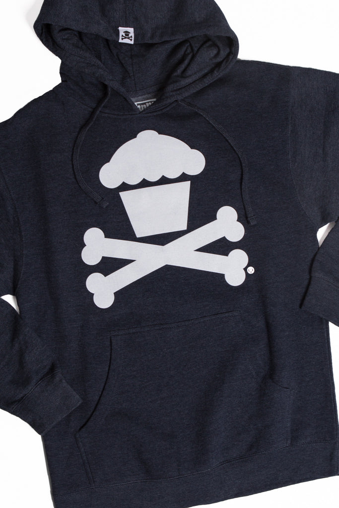 Crossbones Pullover (Navy Heather)