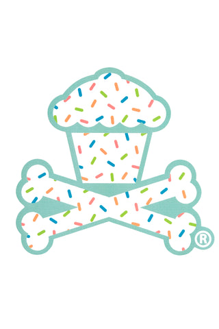 Summer Sprinkles Crossbones Sticker