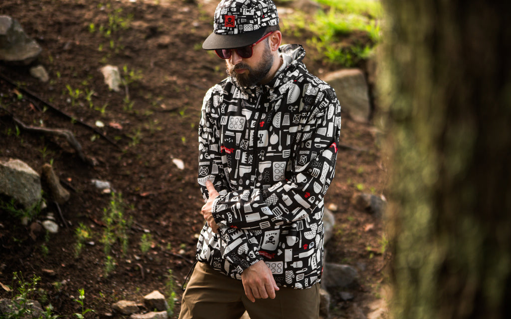 Kitchen Pattern Windbreaker Jacket