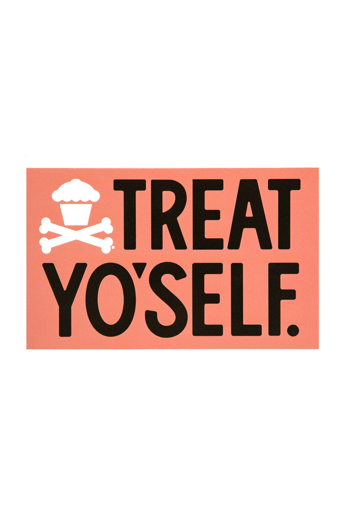 Treat Yo'Self Sticker (coral)