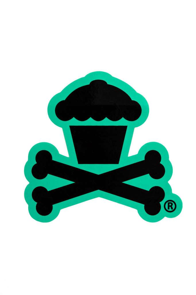 Crossbones Sticker (Mint)