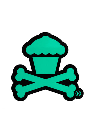 Crossbones Sticker (Black/Mint)