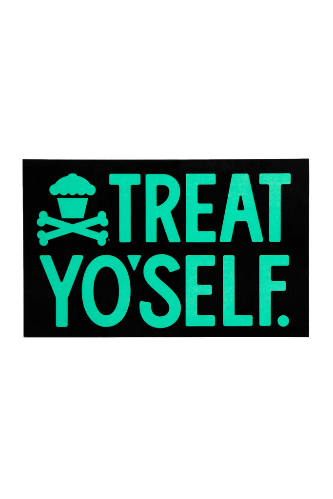 Treat Yo'self Sticker (Black/Mint)