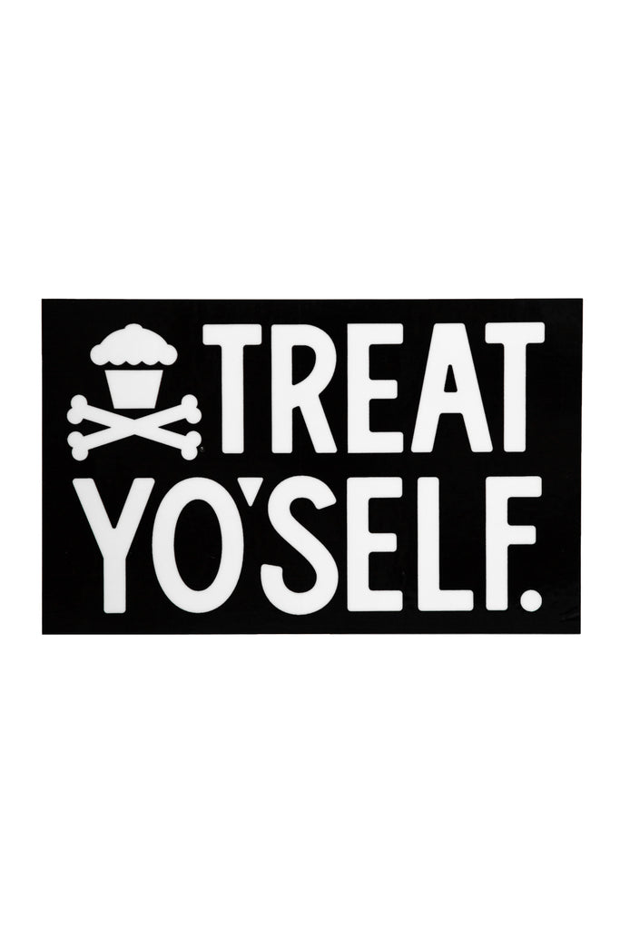 Treat Yo'Self Sticker (black)