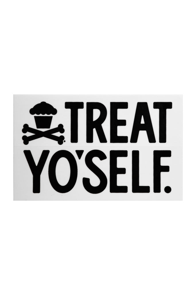 Treat Yo'Self Sticker (white)