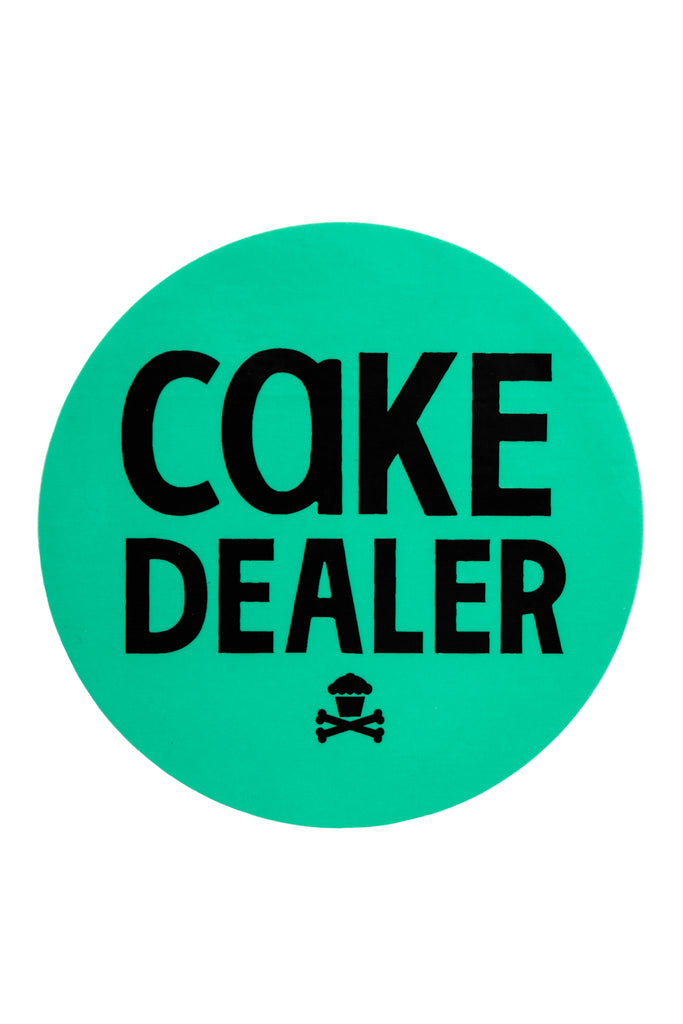 Cake Dealer Round Sticker (Mint)