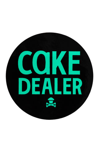 Cake Dealer Round Sticker (Black/Mint)