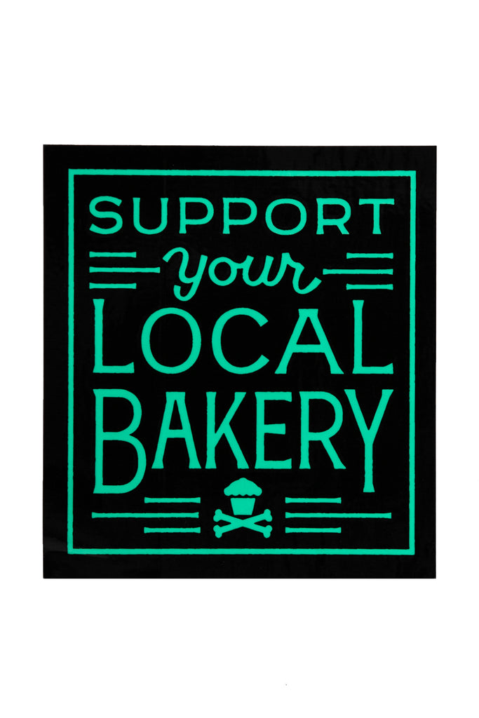 Support Your Local Bakery Sticker (Black/Mint)