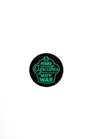 Mini War Round Sticker (Black/Mint)