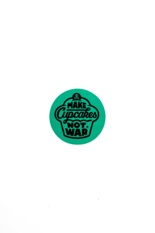 Mini War Round Sticker (Mint)