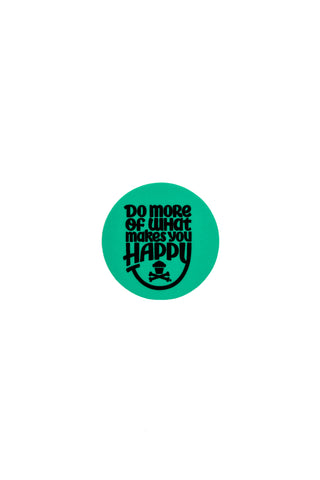 Mini Happiness Round Sticker (Mint)