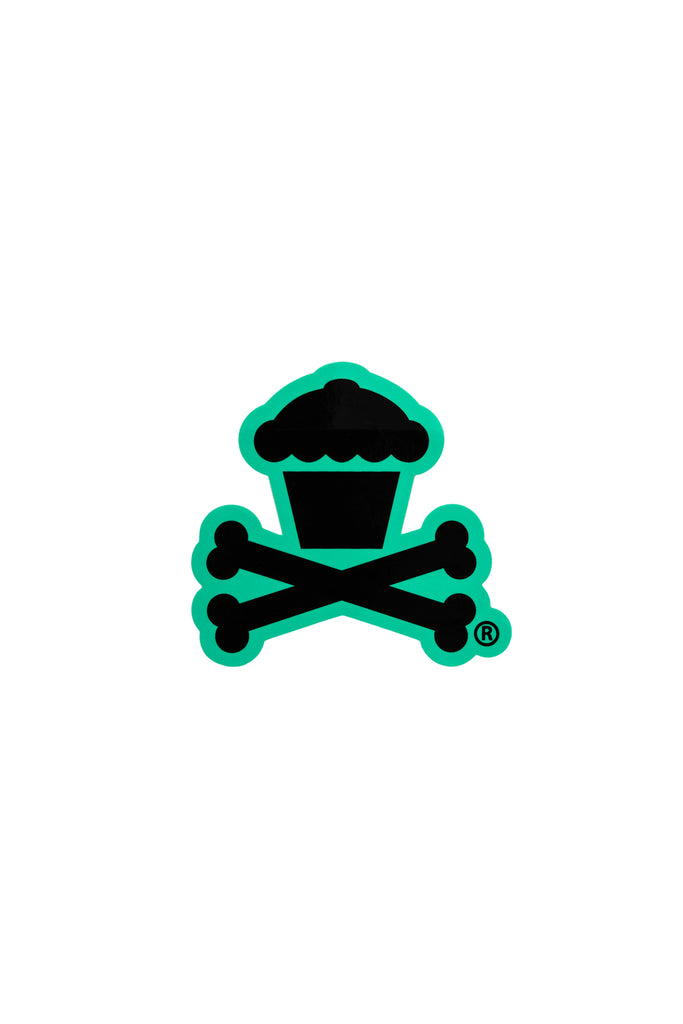 Mini Crossbones Sticker (Mint)
